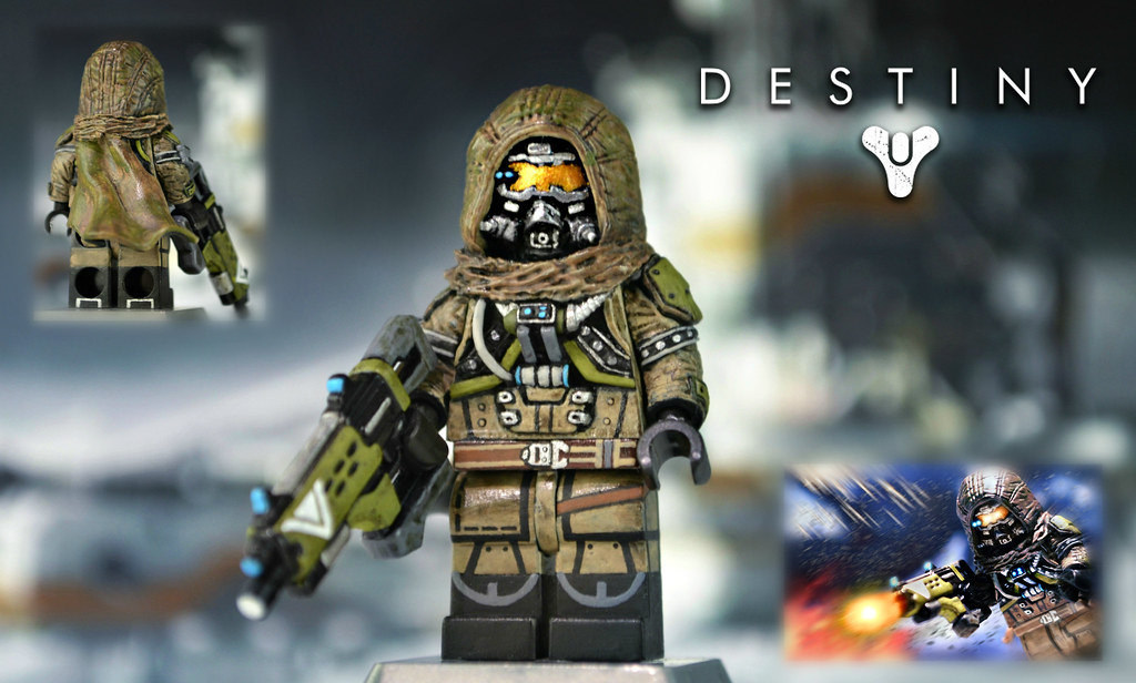 3d Wallpaper White Brick Lego Destiny Hunter Sculpt By Brickaffliction Yet