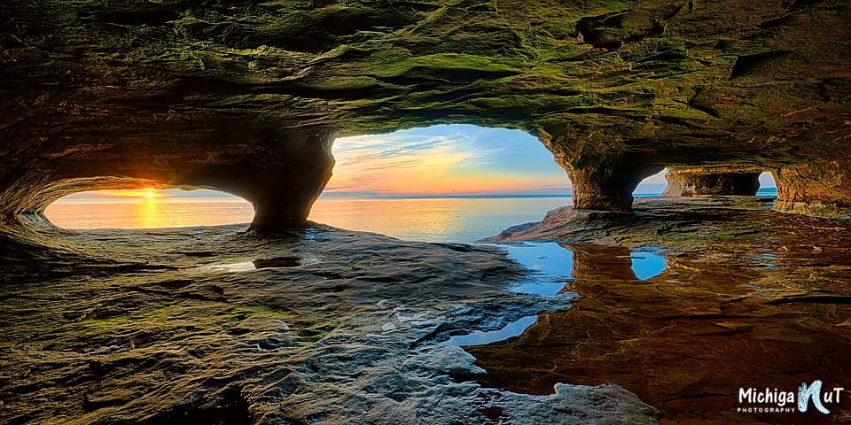 Fall Wallpaper Ocean Sea Cave Sunset Lake Superior Beautiful Sunset Taken