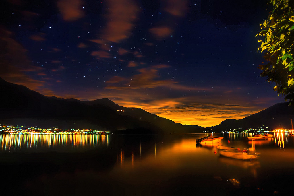 Amazing 3d Wallpapers For Mobile Lake Como At Night Edwin Van Buuringen Flickr