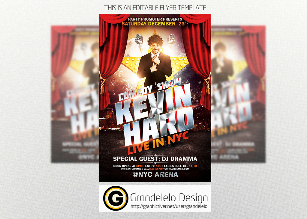 Comedy Show Flyer Template PSD TO DOWNLOAD PSD TEMPLATE Cu2026 Flickr - comedy show flyer template