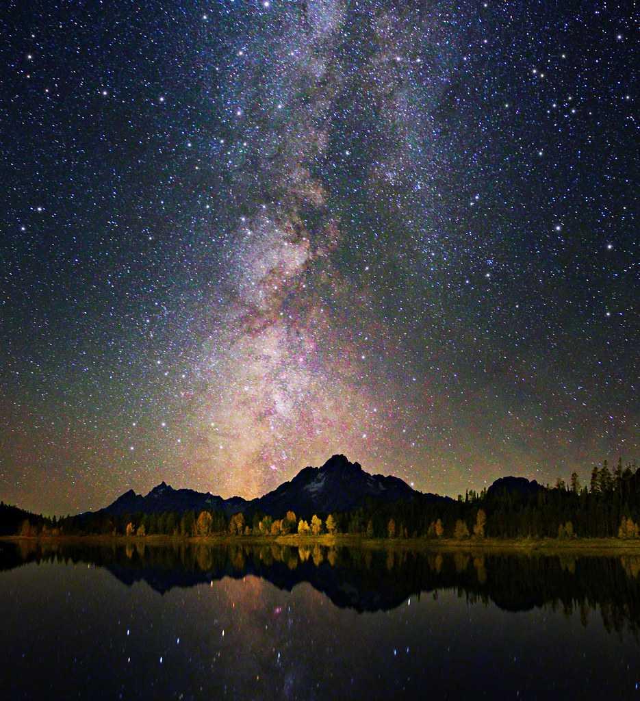 3d World Map Wallpaper For Pc Grand Teton Colors Of Night Sky And Reflection Astroph