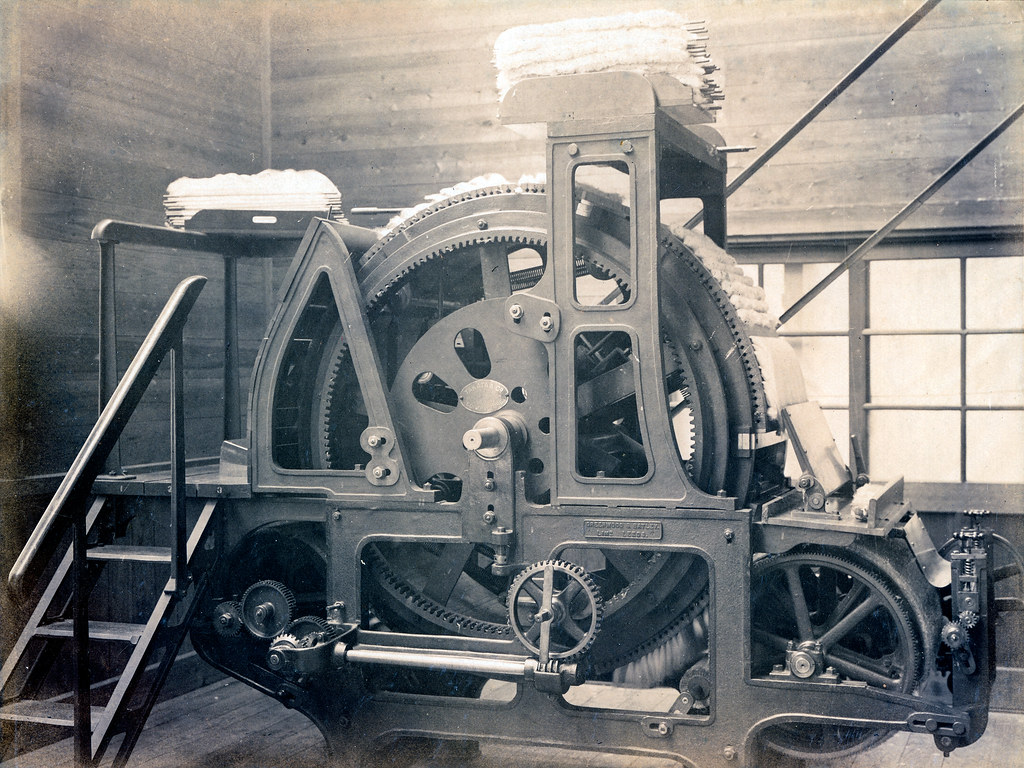 New Car Wallpaper 3d Huge Gear Machine In Japanese Textile Factory A Giant