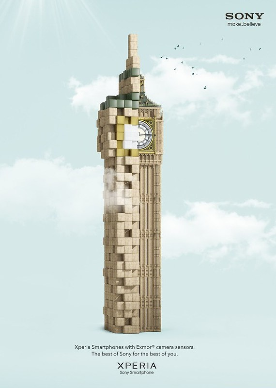 Sony Xperia - Pixelated Big Ben