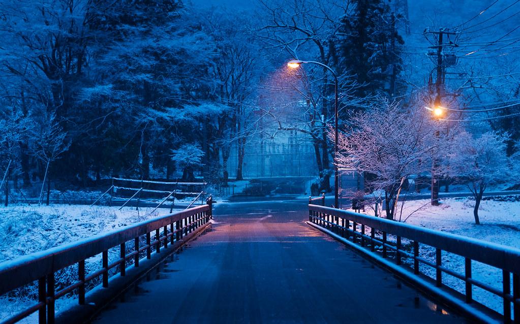 3d Winter Scenes Wallpaper Streetlight Nikko Tochigi Japan Jap 243 N Nikko Japan