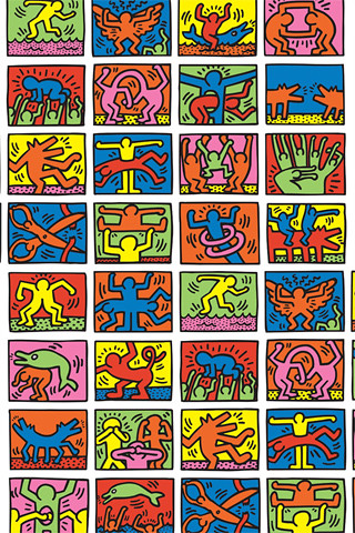 Iphone C Wallpaper Keith Haring Iphone Wallpaper Hrd A3 Flickr
