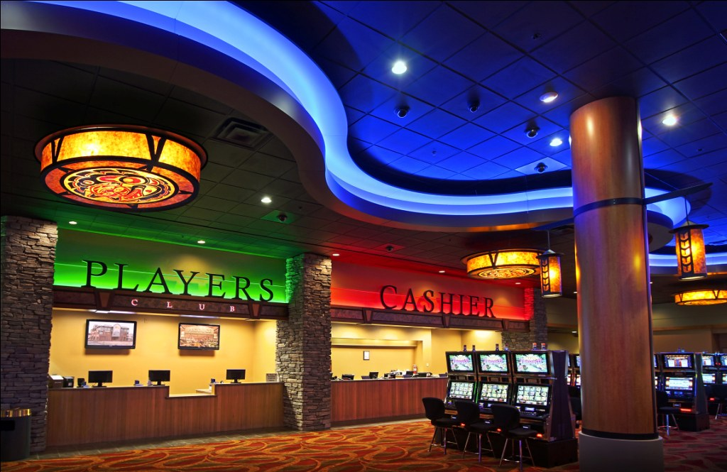 Lit Metal But Interior Casino Signage | Casino Cashier Area | Casino Dec