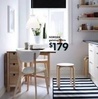 NORDEN Gateleg Table $179 | birch or white www.ikea.com/us ...