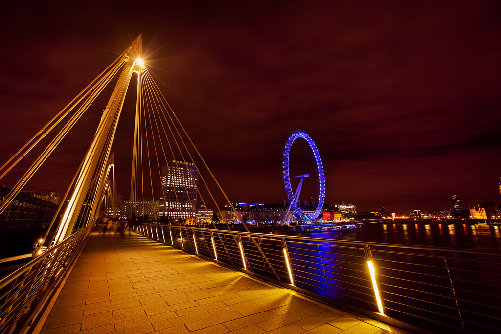 3d Garden Wallpaper Free Golden Jubilee Bridge Amp The London Eye 16 35mm 6s At F