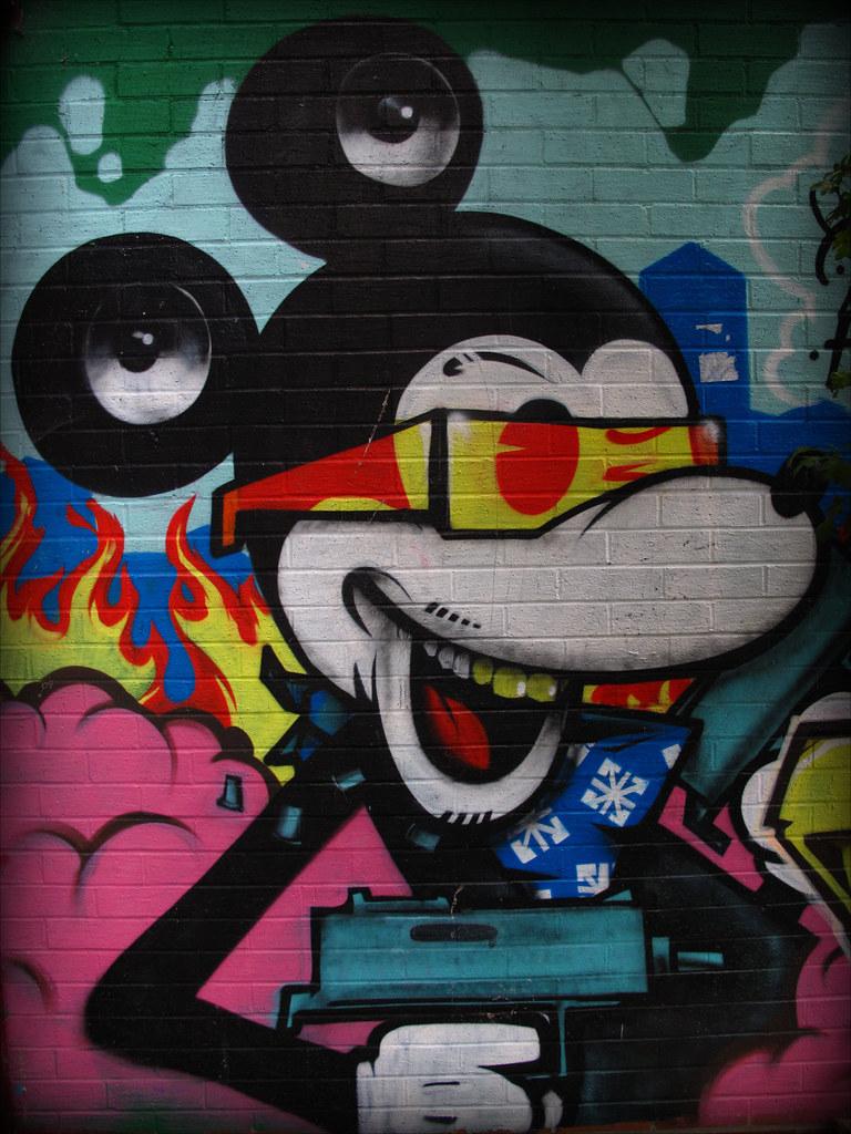 3d Street Art Graffiti Wallpaper Mickey Mouse Graffiti Mickey Mouse Graffiti Brighton