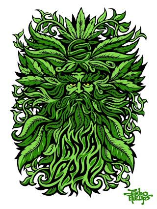 Wallpaper Volcom 3d Santa Cruz Jimbo Phillips Tree God Vectorized Sticker
