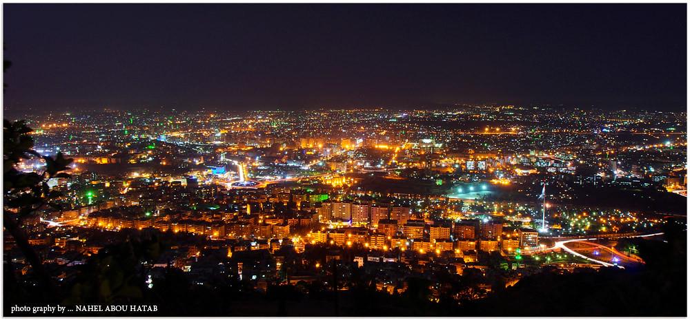 Airplane Full Hd Wallpaper Damascus At Night دمشق ليلا Nahel Abou Htab Flickr