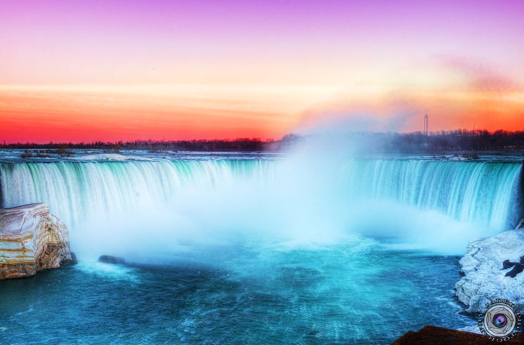 Niagara Falls At Night Wallpaper Sunset Niagara Falls Horse Shoe Jadel Photos Flickr