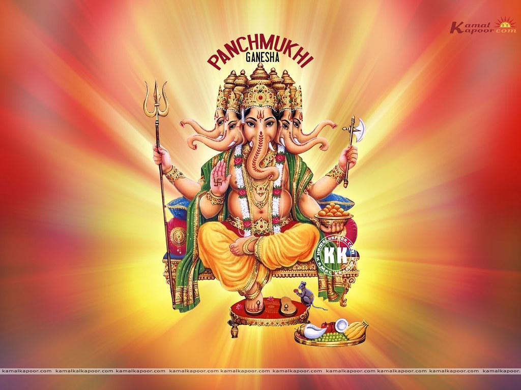 Ganapati Wallpaper 3d Panchmukhi Ganesh Free Sri Sinha Ganapati Ji Wallpapers
