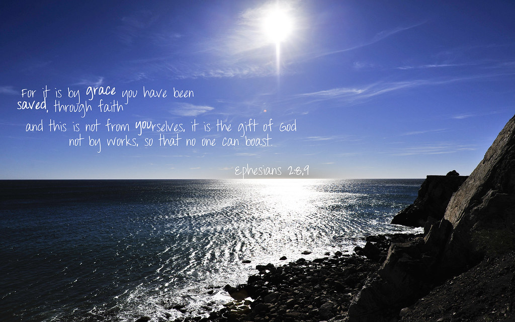 Fall Wallpaper With Verse Eph 2 8 9 Beach 1680x1050 A Wallpaper With Ephesians 2 8