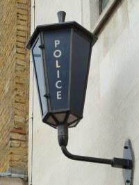 gaslight, gaslamp, gas light, gas lamp, Police station, Sh ...