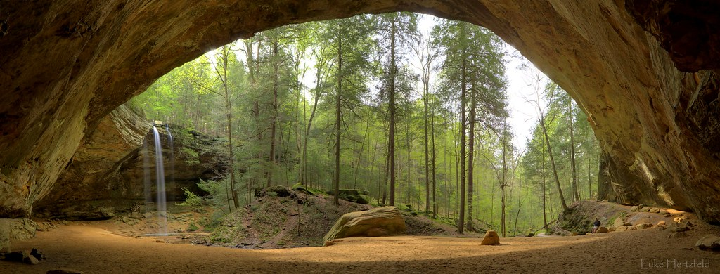 Amazing Wallpapers 3d Ash Cave This Is A Panoramic Of Ash Cave In Hocking
