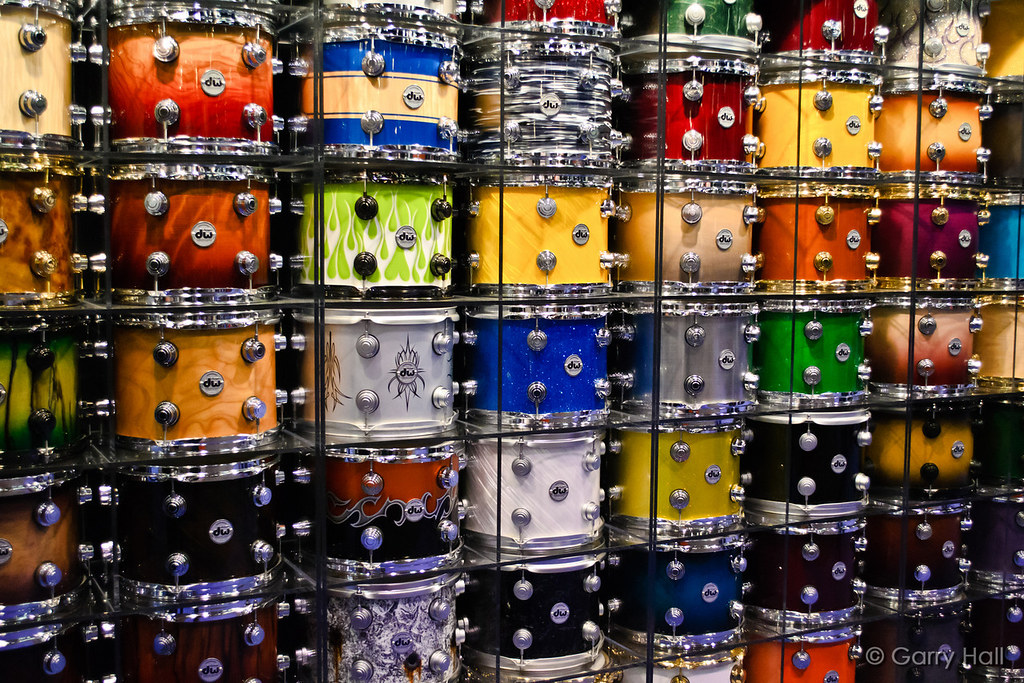 Electric Wallpaper 3d Drum Wall Dw Drum Wall At Namm 11 Garry Hall Flickr