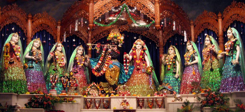 Free Wallpaper 3d 1080p Mery Krishna Christmass Darsan Of Sri Sri Radha Madhava