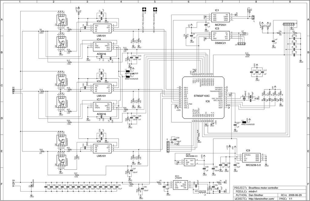 dc motor controller schematic diagram
