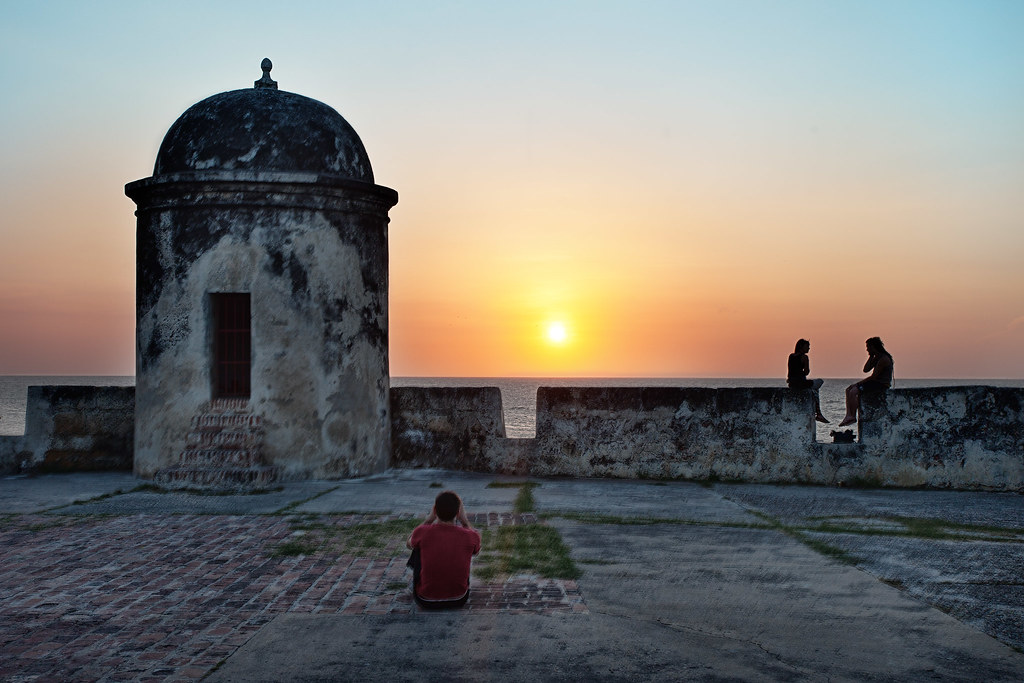 Tourist Destination Blog 39;caribbean Sunset 39; Colombia Cartagena City Wall Flickr
