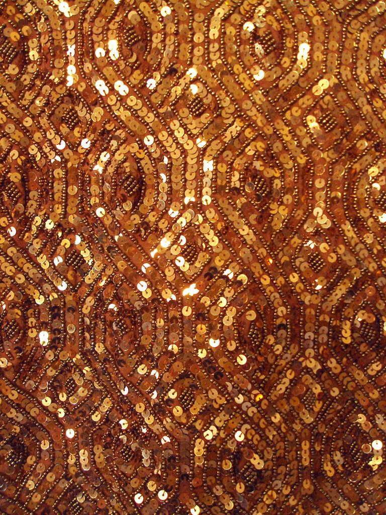 Glitter 3d Wallpaper Bronze Vintage Sequin Dress Detail Holly Hilgenberg