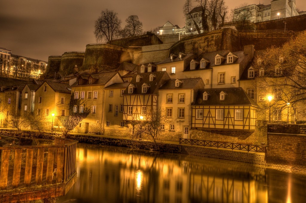 Camera Wallpaper Hd Luxembourg By Night Night Shot Of The Quot Grund Quot In The