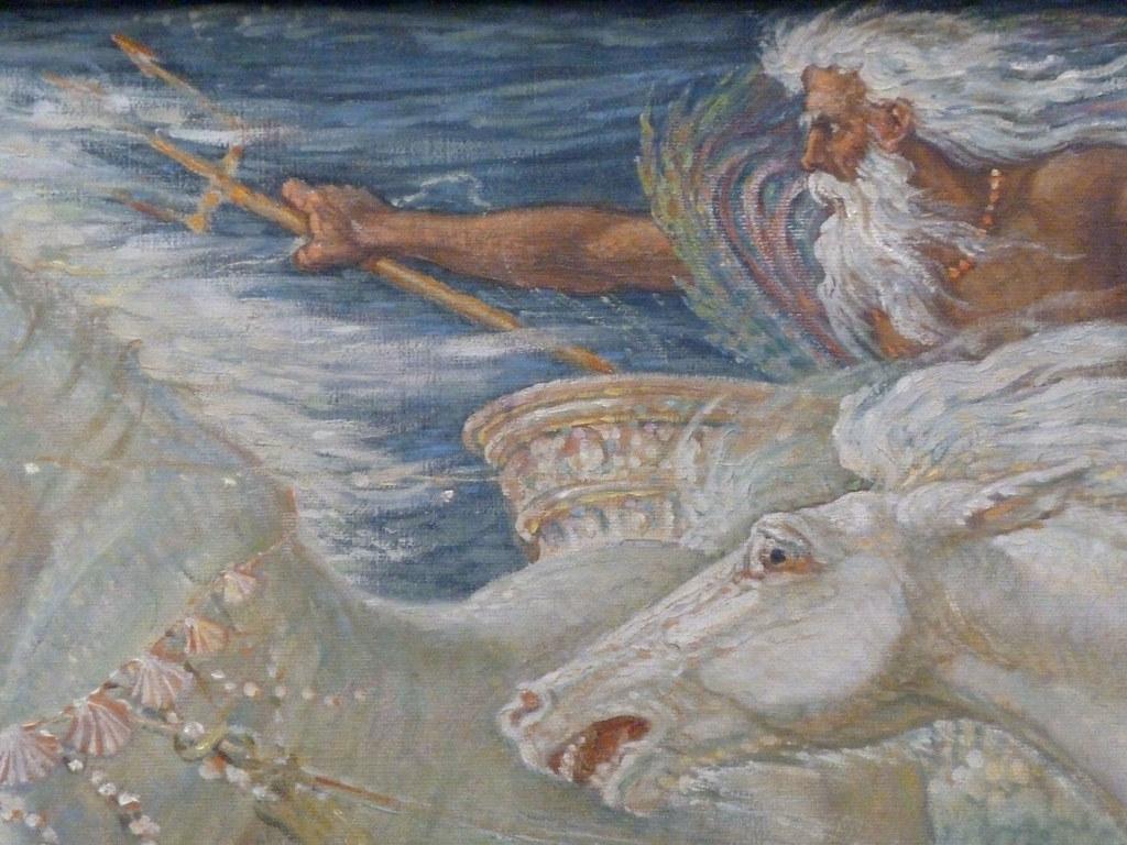 Rainbow 3d Wallpaper Walter Crane Neptune S Horses 1892 Look At The Horse
