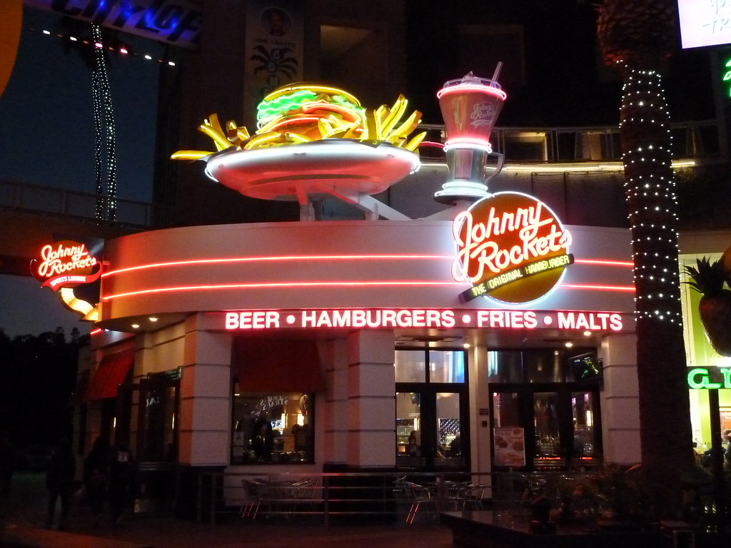 Johnny's Farmhouse Restaurant Johnny Rockets Restaurant Universal Citywalk Hollywood A