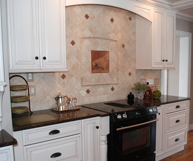 French Country Backsplash Kitchen Backsplash - French Country Cast Ceramic Tiles