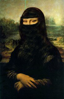3d Woman Wallpaper Mona Lisa Burka In The Spirit Of Altering Works Of Art