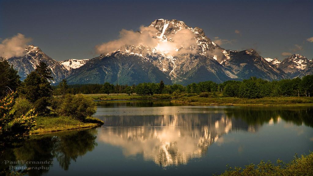 Black And White Diamond Wallpaper Mt Moran Reflected On The Snake River At Grand Teton Nati