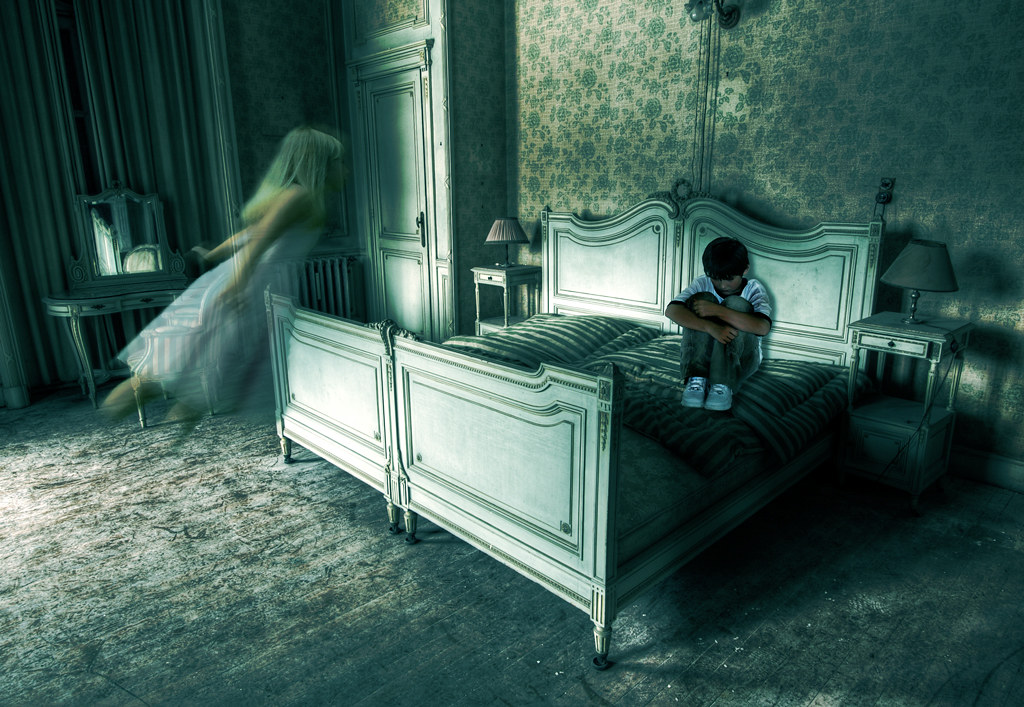 Girl In Hospital Wallpaper Young Ghost Girl And Scared Boy This Is An Image Made