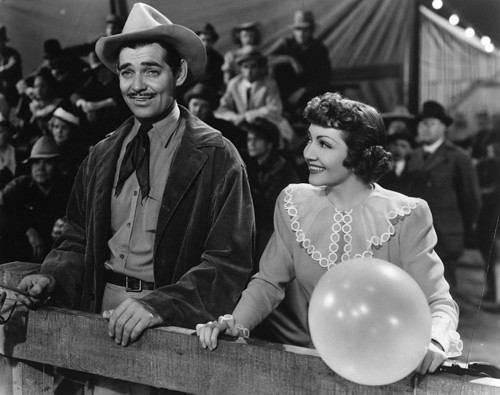 "Boom 3d Clark Gable And Claudette Colbert In ""boom Town"" (1940"