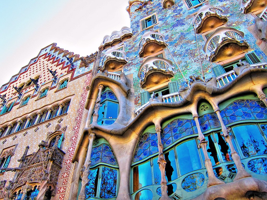 3d Roof Wallpaper Casa Batllo Antoni Gaud 237 Barcelona Spain Photography