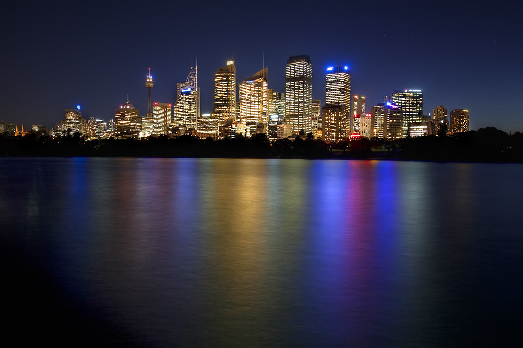 Neon Wallpaper Hd 3d Across The Bay Australia Sydney Downtown Skyline Flickr