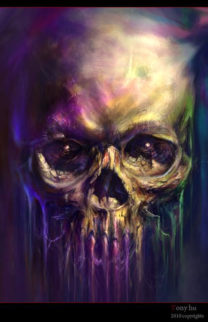 3d Grim Reaper Wallpaper Skull Painting Tony Hu Flickr