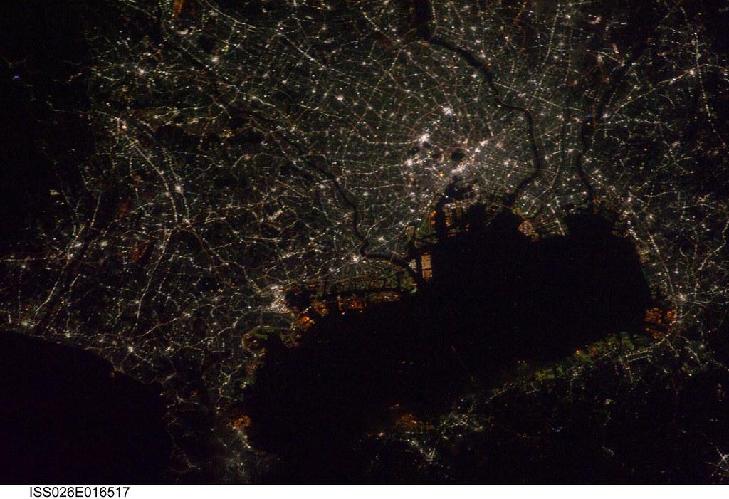 3d Welcome Wallpaper Tokyo Japan At Night Nasa International Space Station