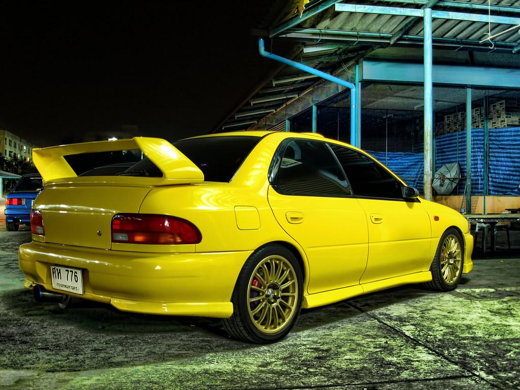Slammed Car Wallpaper Yelllow Subaru Impreza Gc8 Hdr A Sweet Subaru Gc8 That