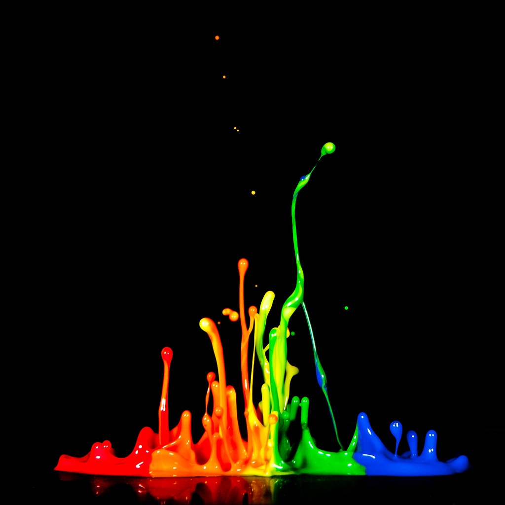 Rainbow 3d Wallpaper Rainbow Splash Paint Dances To The Music Photo Setup