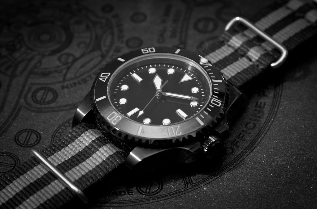 Black White Modern Wallpaper Rolex 5513 Inspired Modern Pvd Milsub Watch Started Out