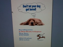 Small Of Dog Walking Flyers