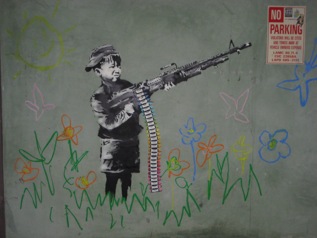 3d Wallpaper Hd 1920x1080 Banksy Child Soldier 2 Nick S Flickr