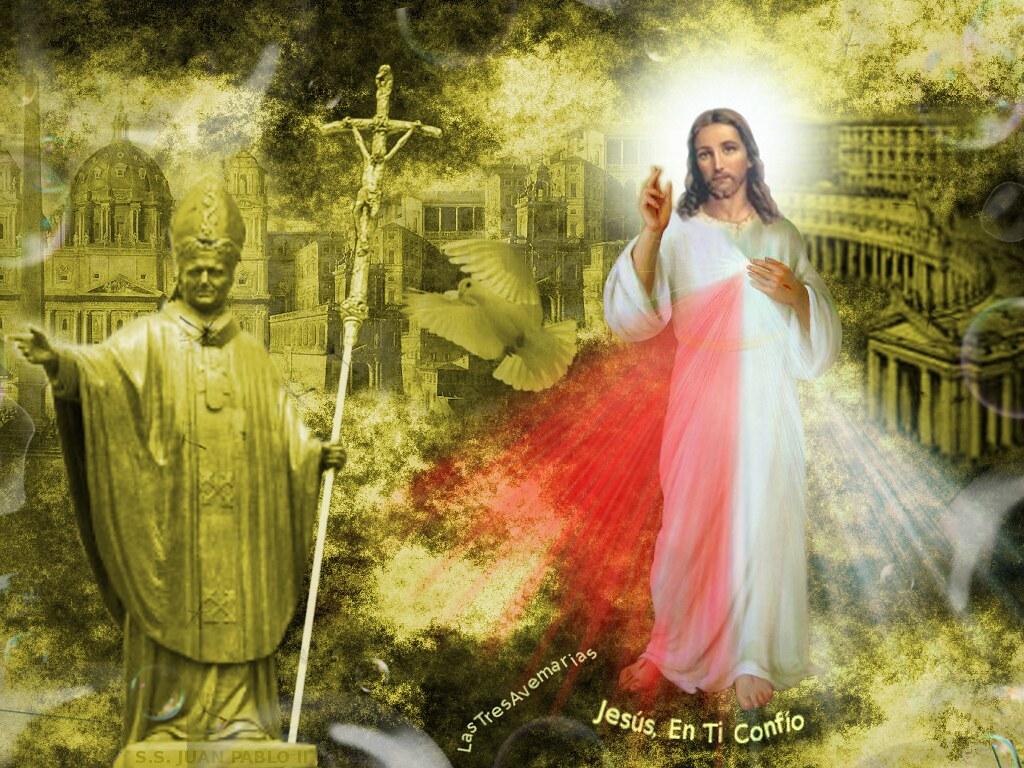 Wallpaper Jesus 3d Divina Misericordia Papa Juan Pablo Segundo Consagraci 243 N