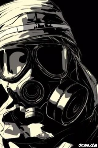Free 3d Skull Wallpaper Gas Mask Guy It Is Like A Lego Guy But It Not
