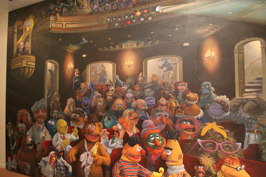 3d Wallpaper New York City Muppets Mural Jim Henson Studios Circa 1984 An Artist