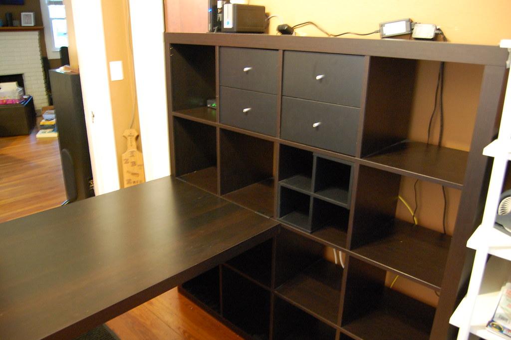 Ikea Expedit Bookcase Desk Sturdy Construction W 2