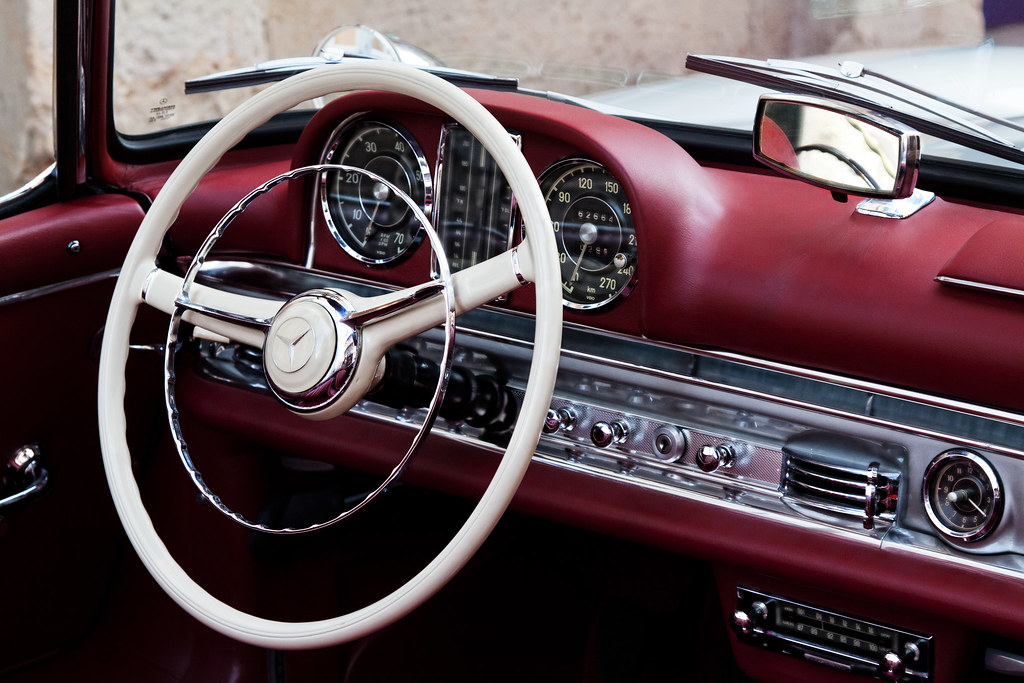 New 3d Wallpaper 1920x1080 Mercedes 300 Sl Cabrio Cockpit Of A Absolutely Well Kept