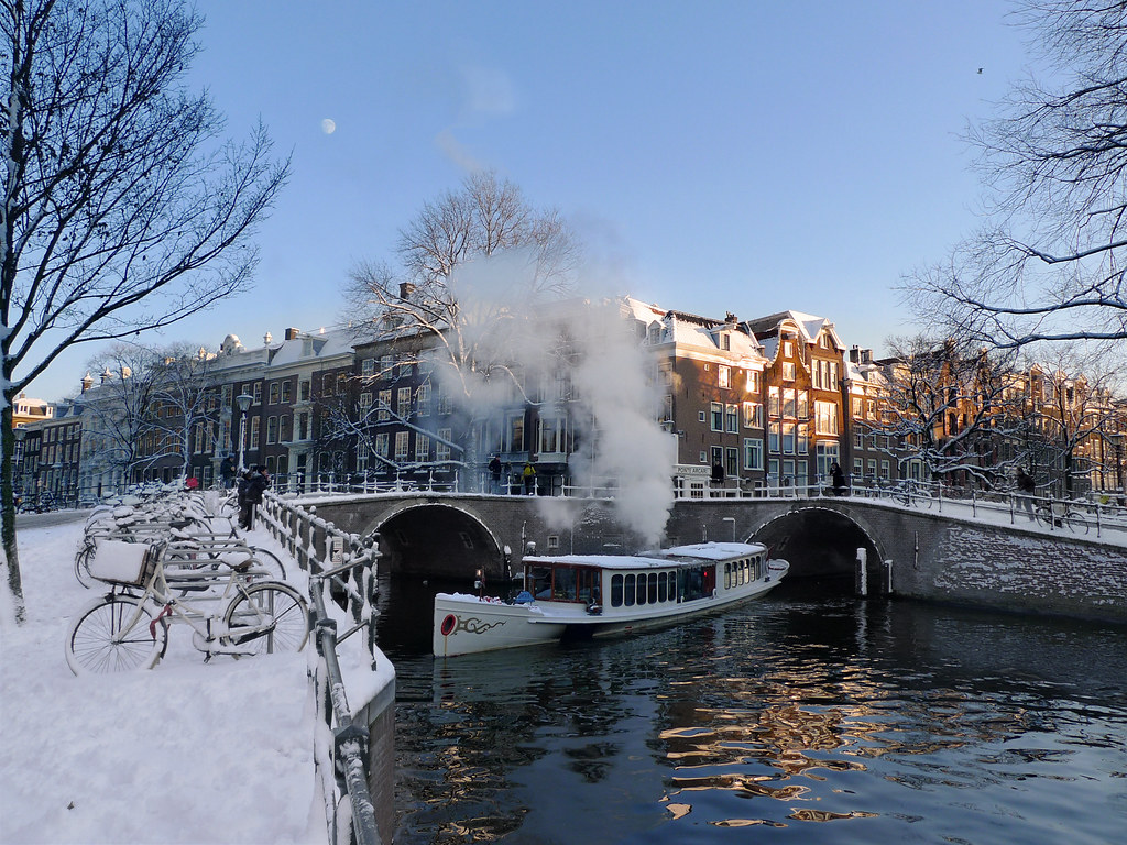 3d Cloud Wallpaper Winter Magic Canal Cruise In Amsterdam 169 All Rights