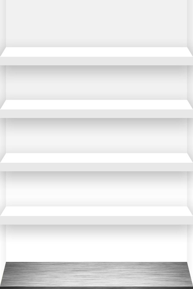 3d Metallic Wallpaper 4 Shelf Iphone Wallpaper White Click A Link For The Full