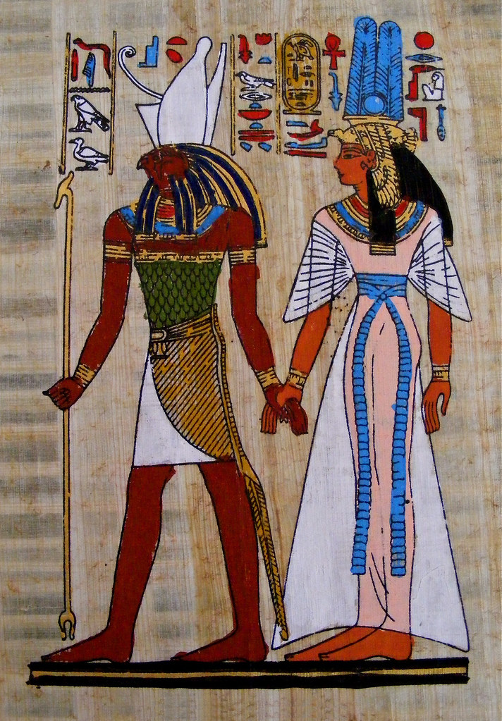 God Hand 3d Wallpaper Horus Amp Nefertari Nefertari Was The Principal Wife Of